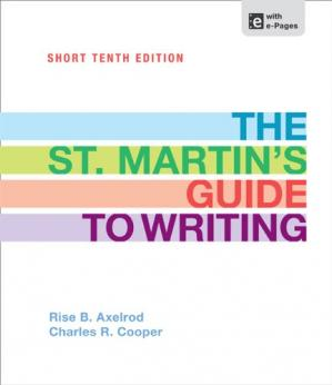 Book cover The St. Martin's Guide to Writing Short Edition