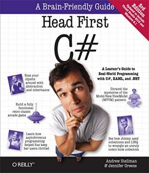 Book cover Head First C#: A Learner's Guide to Real-World Programming with C#, XAML, and .NET