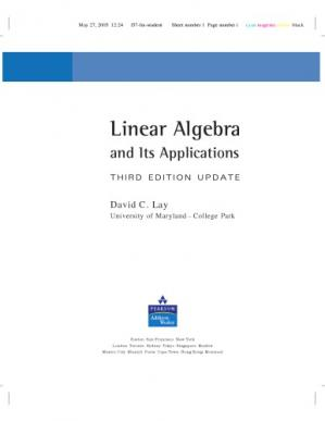 Book cover Linear Algebra and Its Applications