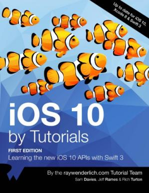 Book cover iOS 10 By Tutorials