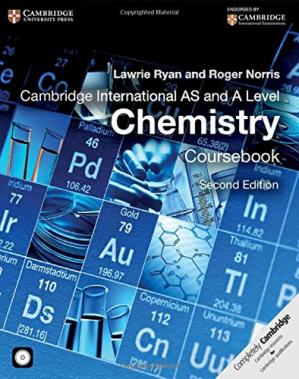 Book cover Cambridge International AS and A Level Chemistry Coursebook