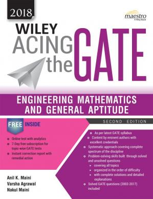 Book cover Wiley Acing the Gate: Engineering Mathematics and General Aptitude