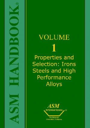 Book cover ASM Handbook - Properties and Selection Irons Steels and High Performance Alloys