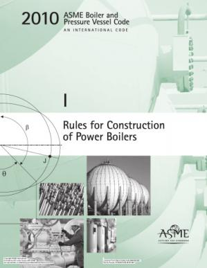 Book cover ASME BPVC 2010 - Section I: Rules for Construction of Power Boilers