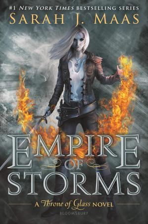 Sampul buku Empire of Storms Throne of Glass