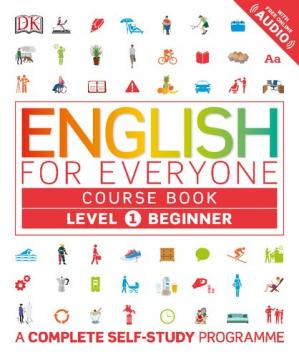 Book cover English for Everyone - Level 1 Beginner - Course Book