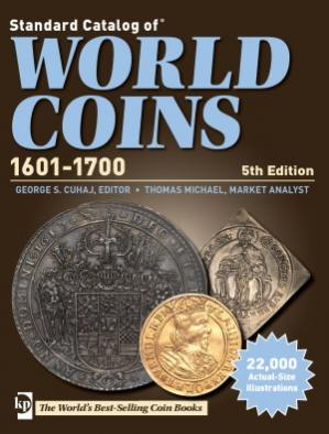 Kitabın üzlüyü KRAUSE Standard Catalog of World Coins 17th Century 1601-1700