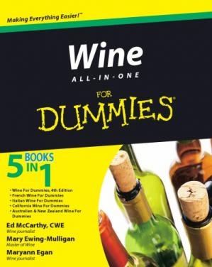 A capa do livro Wine all-in-one for dummies