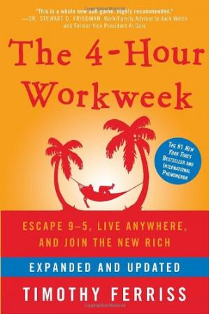 Sampul buku The 4-Hour Workweek: Escape 9-5, Live Anywhere, and Join the New Rich (Expanded and Updated)