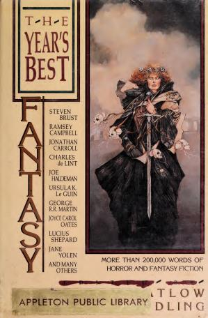 Book cover The Year's Best Fantasy: First Annual Collection / Ed. by Ellen Datlow.