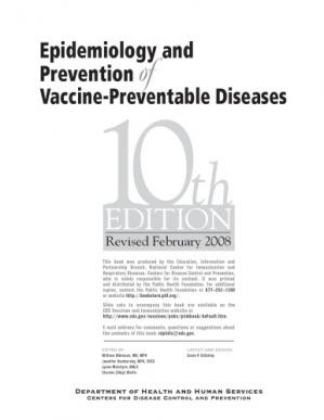 Okładka książki Centers for Disease Control and Prevention. Epidemiology and Prevention of Vaccine-Preventable Diseases (Revised Feb. 2008)