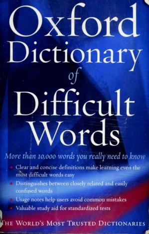 书籍封面 The Oxford Dictionary of Difficult Words