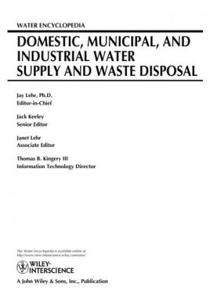 Portada del libro Water Encyclopedia, Domestic, Municipal, and Industrial Water Supply and Waste Disposal (Volume 1)