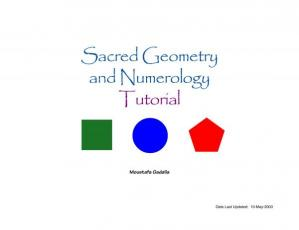 Book cover Sacred Geometry and Numerology Tutorial
