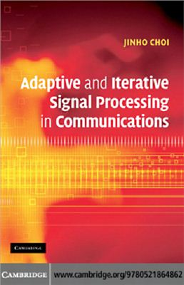 Couverture du livre Adaptive and Iterative Signal Processing in Communication