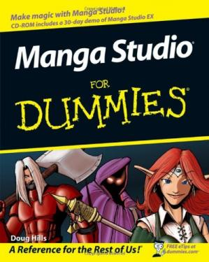 Book cover Manga Studio For Dummies