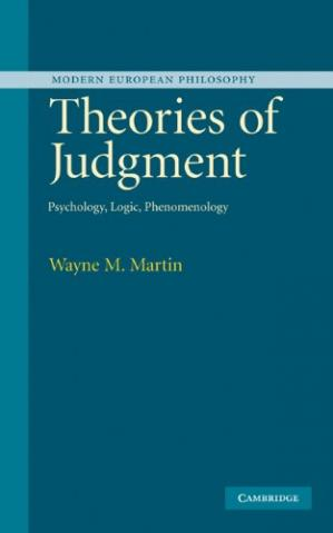 ปกหนังสือ Theories of Judgment: Psychology, Logic, Phenomenology (Modern European Philosophy)