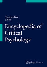 Portada del libro Encyclopedia of Critical Psychology
