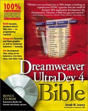 A capa do livro Dreamweaver Ultradev ''X'' Bible with CD-ROM