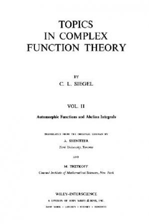 Book cover Topics in complex function theory. Automorphic and abelian integrals