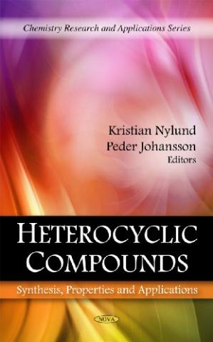 A capa do livro Heterocyclic Compounds: Synthesis, Properties and Applications