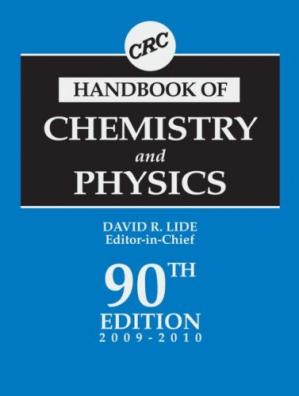 Okładka książki CRC Handbook of Chemistry and Physics, 90th Edition