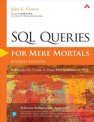 Book cover SQL Queries for Mere Mortals: A Hands-On Guide to Data Manipulation in SQL