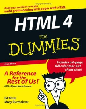 A capa do livro HTML 4 For Dummies