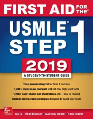 Обложка книги First Aid for the USMLE Step 1 2019