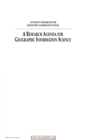 Book cover Research agenda for geographic information science