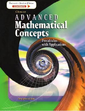 Book cover Glencoe Advanced Mathematical Concepts: Precalculus with Applications