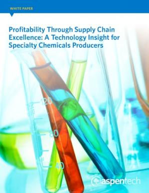 Okładka książki Profitability Through Supply Chain Excellence: A Technology Insight for Specialty Chemicals Producers (White Paper)