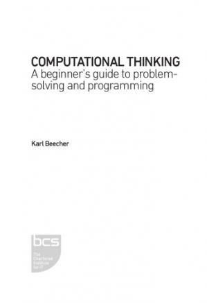 Book cover Computational Thinking. A Beginner's Guide to Problem-Solving and Programming