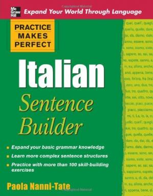 Book cover Practice Makes Perfect Italian Sentence Builder (Practice Makes Perfect Series)