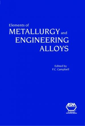Couverture du livre Elements of Metallurgy and Engineering Alloys