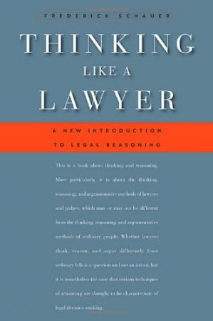 Buchdeckel Thinking Like a Lawyer: A New Introduction to Legal Reasoning
