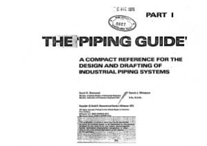 Book cover Piping guide - Compact referencefor the design and drafting of industrial piping systems