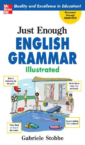A capa do livro Just Enough English Grammar Illustrated