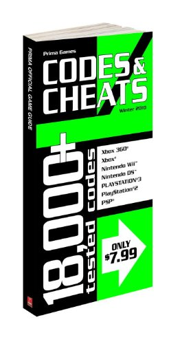 Book cover Codes & Cheats Winter 2010: Prima Official Game Guide