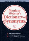 Book cover Webster's new dictionary of synonyms: a dictionary of discriminated synonyms with antonyms and analogous and contrasted words