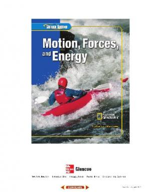 Book cover Glencoe Science: Motion, Forces, and Energy, Student Edition