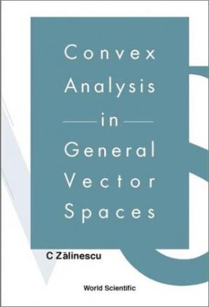 Copertina Convex analysis in general vector spaces