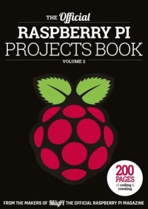 A capa do livro The Official Raspberry Pi Projects Book