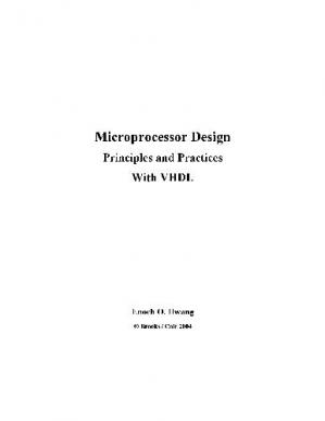 Book cover Microprocessor Design with VHDL
