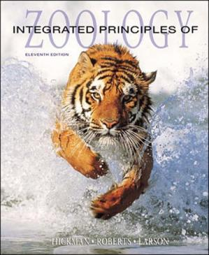 Book cover Integrated Principles of Zoology