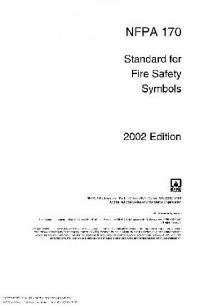 Sampul buku NFPA 170, Standard for Fire Safety Symbols