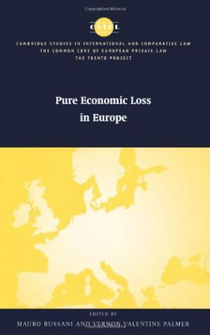 Okładka książki Pure Economic Loss in Europe (The Common Core of European Private Law)