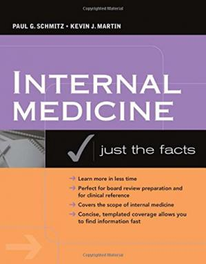 Գրքի կազմ Internal medicine : just the facts