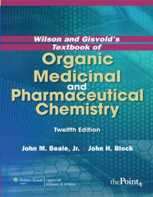 Portada del libro Wilson and Gisvold's Textbook of Organic Medicinal and Pharmaceutical Chemistry, 12th Edition