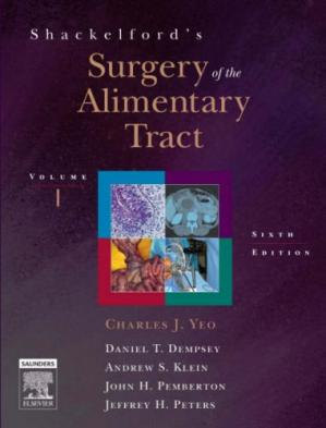 Book cover Shackelford's Surgery of the Alimentary Tract: 2-Volume Set, 6th Edition